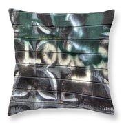 Butterfly Graffiti Throw Pillow