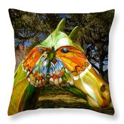 Butterfly Horse Ocala Florida Throw Pillow