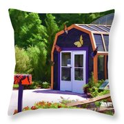 Butterfly House 2 Throw Pillow