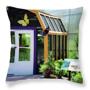 Butterfly House 3 Throw Pillow