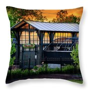 Butterfly House At Sunset Throw Pillow