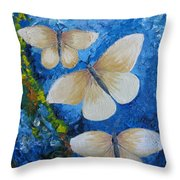 Butterfly In Blue 4 Throw Pillow