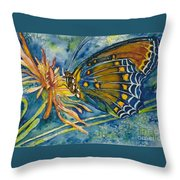 Butterfly In Ca Throw Pillow