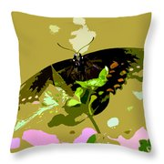 Butterfly In Color Throw Pillow