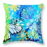 Butterfly In Flight #3  Throw Pillow