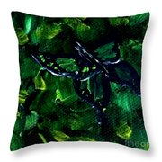 Butterfly In The Bush Throw Pillow