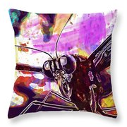 Butterfly Insect Eyes Probe  Throw Pillow