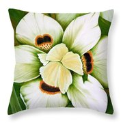 African Butterfly Iris Throw Pillow