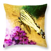 Butterfly Journey Throw Pillow