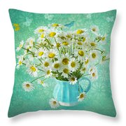 Butterfly Kisses And Flower Petal Wishes  Throw Pillow
