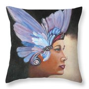 Butterfly Lady Throw Pillow