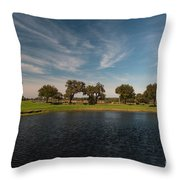 Butterfly Lake At Middleton Place Throw Pillow