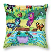 Butterfly Lake Throw Pillow