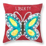 Butterfly Liberty Throw Pillow