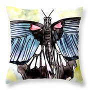 Butterfly Macro Throw Pillow