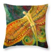 Butterfly Man Throw Pillow