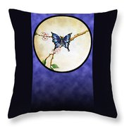 Butterfly Moon Throw Pillow
