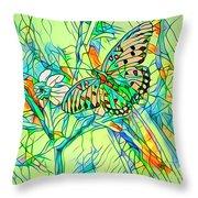 Butterfly Mosiac Throw Pillow
