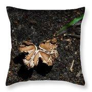 Butterfly Mushroom Throw Pillow