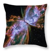 Butterfly Nebula Throw Pillow