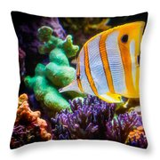 Butterfly Of The Sea Throw Pillow
