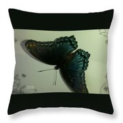 Butterfly On My Car Throw Pillow