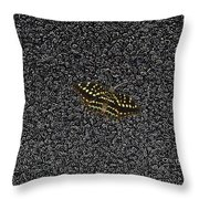 Butterfly On Stone Throw Pillow