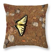 Butterfly On The Sand Two  Throw Pillow