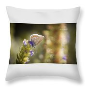 Butterfly On The Spot Throw Pillow
