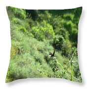 Butterfly On Thistle Throw Pillow
