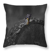 Butterfly On Tombstone Throw Pillow