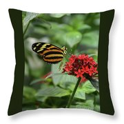 Butterfly Orange And Yellow Throw Pillow