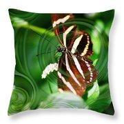 Butterfly Overlay Throw Pillow