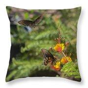 Butterfly Pas De Deux Throw Pillow