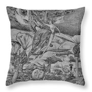 Butterfly People Throw Pillow