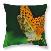 Butterfly Pose Throw Pillow