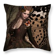 Butterfly Princess Of The Forest 2 Throw Pillow