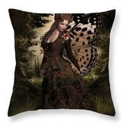 Butterfly Princess Of The Forest Throw Pillow