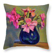 Butterfly Roses Throw Pillow