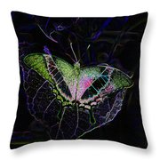 Butterfly Rws Work Number Two Throw Pillow