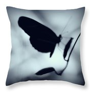 Butterfly Silhouette  Throw Pillow
