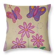 Butterfly Smiles Throw Pillow