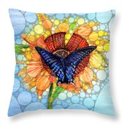 Butterfly Sunday After The Rain Throw Pillow