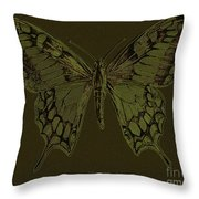 Butterfly Swallow Tail Throw Pillow