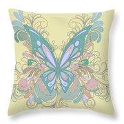 Butterfly Swirls Throw Pillow