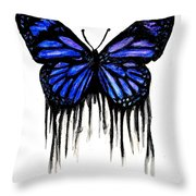 Butterfly Tears Throw Pillow
