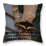 Butterfly Thing Of Beauty Throw Pillow