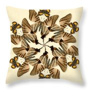 Butterfly Wheel Dance Throw Pillow
