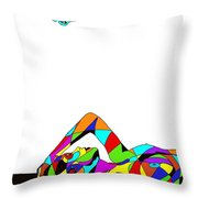 Butterfly With A Nude Throw Pillow