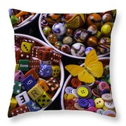 Butterfly With Bowls Throw Pillow